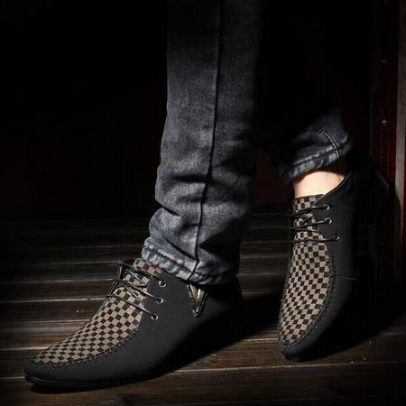 Mr.benyou 2014正品钱塘男士皮鞋透气休闲男鞋尖头帆船鞋英伦潮鞋Q1011-230