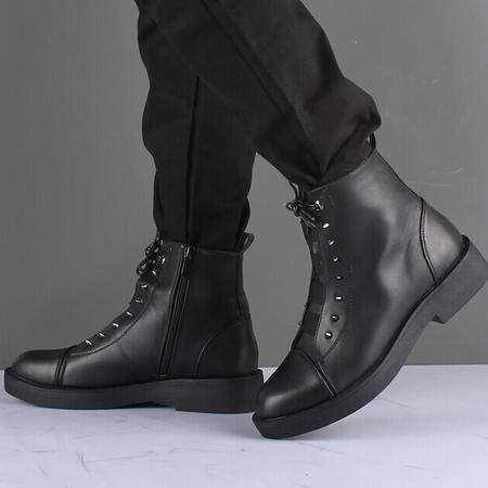 Mr.benyou 2014正品新款时尚钱塘韩版男靴厚底增高男士皮靴Q1011-H10-16