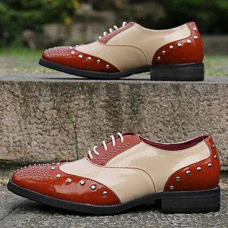 Mr.benyou 2014正品布洛克鞋潮男柳丁鞋英伦休闲系带小皮鞋Q1103A-CL10