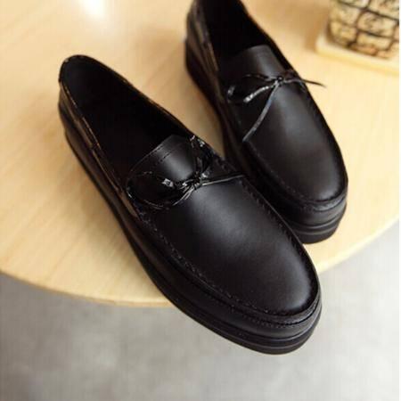 Mr.benyou 2014正品新款时尚个性纯色理发师T台厚底圆头套脚潮鞋Q1316-5016-02