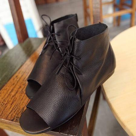 Mr.benyou 2014正品新款时尚个性头层牛皮鱼嘴罗马凉鞋Q1316-2010-10