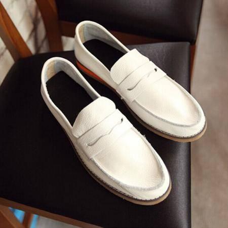 Mr.benyou 2014正品新款时尚个性纯色圆头套脚 牛皮帆船鞋 Q1316-WS701