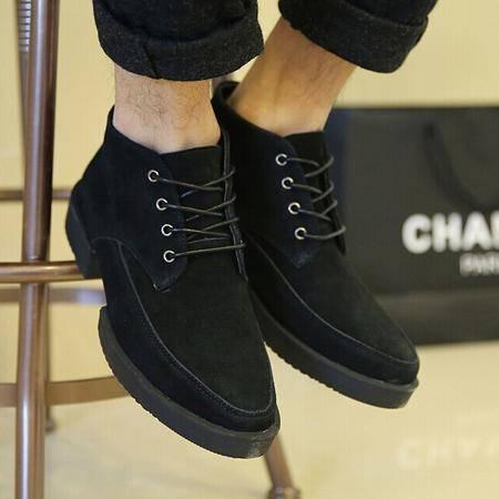 Mr.benyou正品新款时尚高帮纯色经典系带马丁鞋 H1068-1007