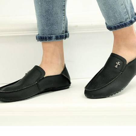 Mr.benyou正品潮款!真皮牛皮 透气软皮套脚单鞋 男式舒适低帮鞋豆豆鞋H1049-S41