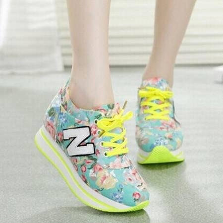 MR.benyou韩国 时尚 N字母休闲鞋 内增高女慢跑运动鞋
