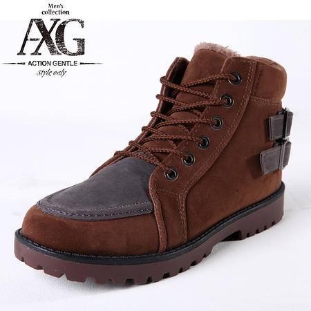 潮流短筒防滑棉鞋男雪地靴男短筒靴子冬季保暖棉靴子