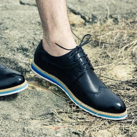 MR.BENYOU2015夏季新款韩版休闲板鞋 布洛克擦色单鞋Q