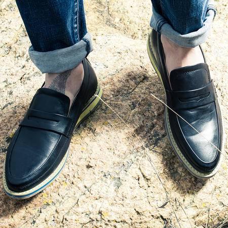 MR,BENYOU2015春夏款乐福鞋男士休闲皮鞋子帆船鞋英伦复古潮鞋一脚蹬套脚懒人鞋 Z