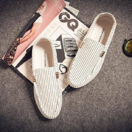 MR.BENYOU夏季新款韩版休闲鞋潮流行男鞋驾车鞋帆布豆豆鞋懒人鞋帆船鞋Q