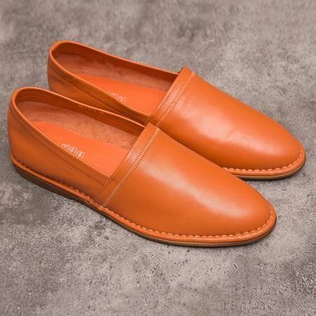MR.BENYOU2015夏季新款新款懒人鞋男英伦真皮套脚船鞋 Q