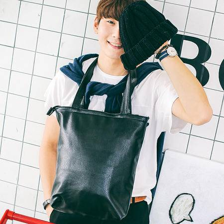Mr.benyou2015潮牌包 杂志款 个性PU皮纯色手提包 单肩包 潮流 旅行包 S2