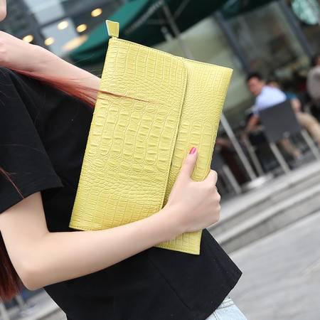 Mr.benyou2015夏季箱包新款真皮女包手拿包 单肩斜跨包 欧美牛皮正品鳄鱼纹手包mS2
