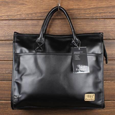 Mr.benyou2015夏季箱包新款日系原宿风复古男士PU水洗皮包包手提公文包文件包休闲单肩包Q