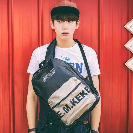 Mr.benyou2015夏季箱包新款热卖男包 日韩时尚PU皮印花背包中学生书包包Q
