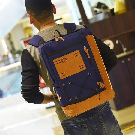 Mr.benyou2015夏季箱包新款多功能男士 双肩包 帆布电脑包 旅行背包Q