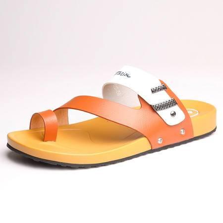 MR.BENYOU2015新款夏季真皮人字拖潮拖英伦休闲男士凉鞋沙滩防滑韩版凉拖鞋X1