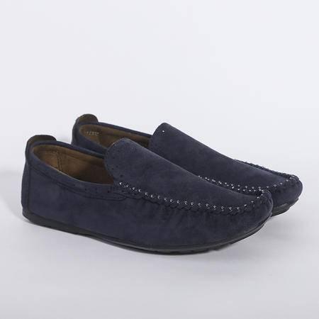 Mr.benyou2015夏季新款纯色懒人套脚一脚蹬豆豆鞋平跟透气牛皮休闲鞋潮男鞋J