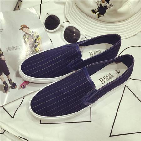 Mr.benyou2015夏季韩版休闲鞋潮流行男鞋英伦风透气乐福鞋滑板鞋懒人鞋帆布鞋男J