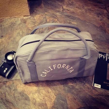 Mr.benyou2015新款简约复古字母印花潮款男女大容量旅行包手提包电脑包健身包包JJ