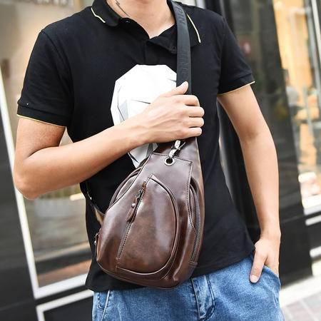 Mr.benyou2015新款男士胸包斜挎包男包学院风男士潮包休闲包街头流行单肩包J