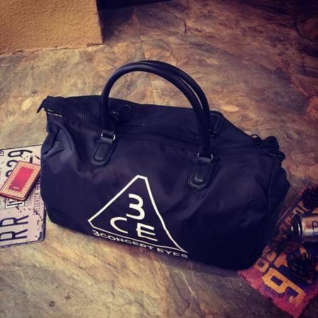 Mr.benyou2015新款时尚字母印花潮牌旅行运动手提包黑色大方个性休闲手提包JJ