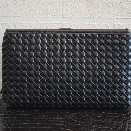 Mr.benyou2015新款编韩版时尚织男士真皮长款钱包手包编织大容量手提包手机包J