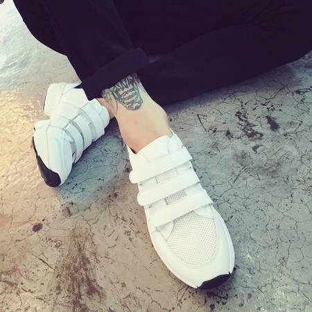 Mr.benyou2015夏季男士韩版魔术贴白色运动鞋内增高男鞋休闲鞋低帮学生潮鞋YYY