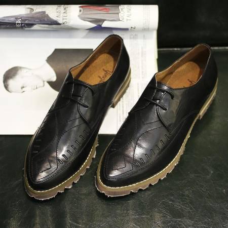 Andyrex2015秋季新新做旧擦色真皮布洛克男鞋日系复古低帮尖头皮鞋潮鞋子JJ