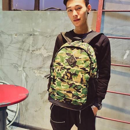 MR.benyou2015秋冬新款男女情侣休闲韩版个性青少年潮流港仔迷彩双肩包书包背包LL