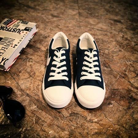 Mr.benyou2015秋冬新款男士系带帆布鞋韩版休闲鞋潮男简约低帮鞋白色布鞋男JJJ