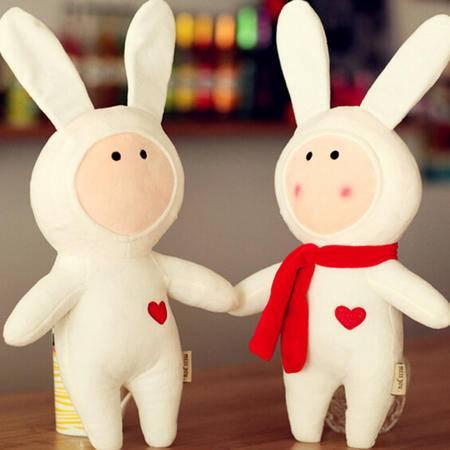 iloop七夕礼物安森致物不二兔子公仔毛绒玩具玩偶Anthony不二兔安东尼 围巾兔 50厘米