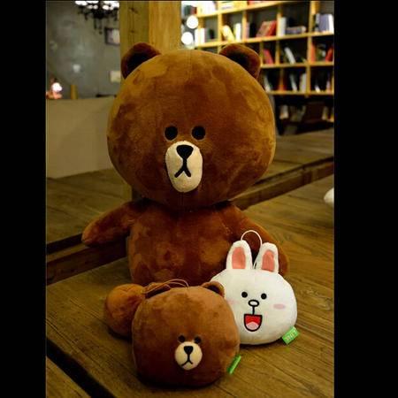 iloop-line A-Lin同款布朗熊公仔布娃娃可妮兔毛绒玩具生日礼物女 布朗熊