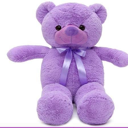 iloop毛绒玩具紫色薰衣草味抱抱熊 泰迪熊公仔