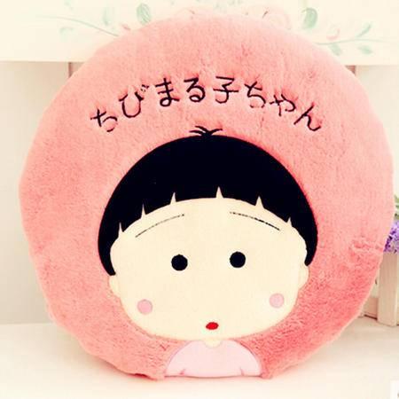 iloop樱桃小丸子抱枕靠垫 两用大白空调毯被子毛绒玩具情人节礼物女生 1.6*1