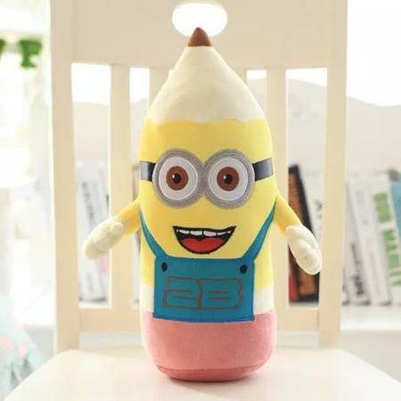 iloop小黄人公仔抱枕2b铅笔可爱毛绒玩具公仔儿童玩偶创意生日礼物