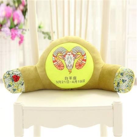 iloop可爱十二星座腰枕靠枕 卡通抱枕办公室椅子护腰垫睡眠枕 汽车靠垫