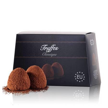 法国进口漫滋松露巧克力黑色传统500g情人节礼物年货(代可可脂)