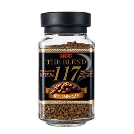 日本进口 UCC(悠诗诗) 117纯正速溶无糖咖啡90g/罐