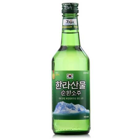 韩国原装进口汉拿山烧酒360ml 19%vol