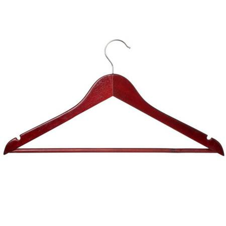 丽姿高档衬衫衣架  3只装 红木色 L1003