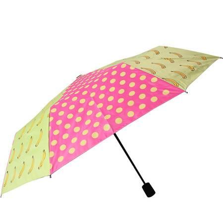 天堂伞 高密聚酯银胶防晒防紫外线伞悠悠生活三折超轻自开伞晴雨伞遮阳伞太阳伞