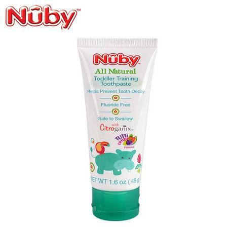 美国Nuby/努比橘子宝宝幼儿牙膏45g儿童牙膏适合6个月以上宝宝用