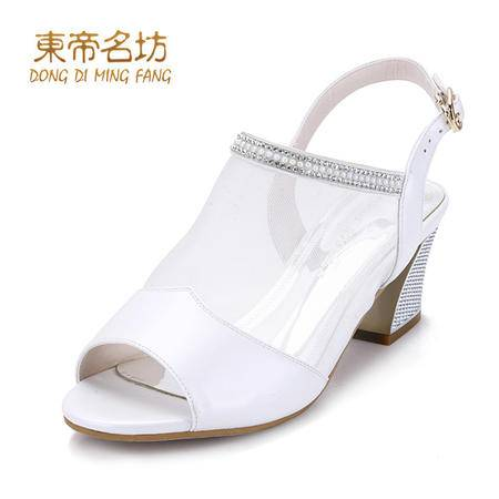 东帝名坊透气网纱水钻鱼嘴鞋58716