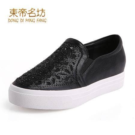 东帝名坊透气网纱镂空懒人专属松紧带乐福鞋56693