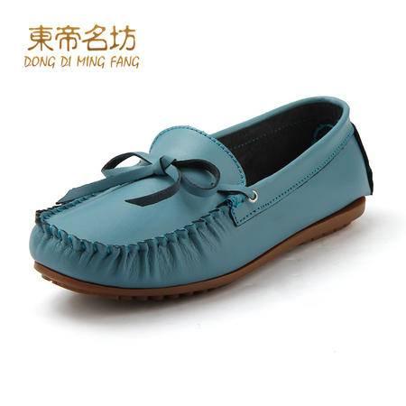 2015春秋季女鞋新款平跟单鞋女平底鞋休闲鞋女真皮孕妇鞋豆豆鞋女