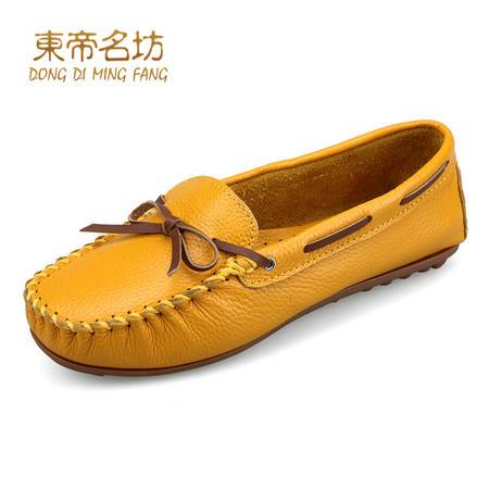 2015春季新款牛皮豆豆鞋女鞋真皮单鞋女舒适平底鞋女休闲平跟单鞋36287