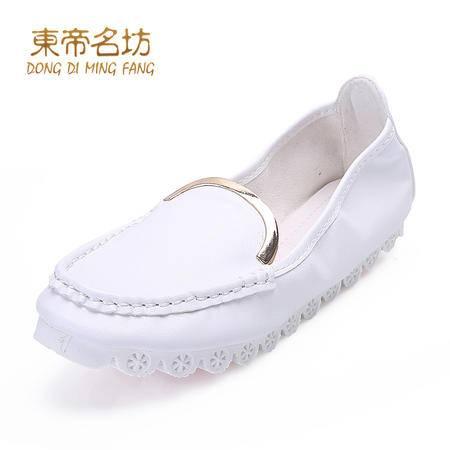 东帝名坊 2015春秋新款纯色圆头舒卷鞋时尚浅口套脚平跟平底女鞋子46579