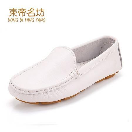 东帝名坊真皮软底妈妈鞋驾车鞋休闲鞋女鞋孕妇鞋