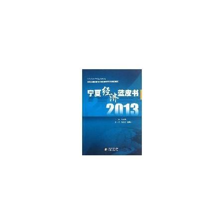 宁夏经济蓝皮书(2013)/宁夏社会科学院蓝皮书系列
