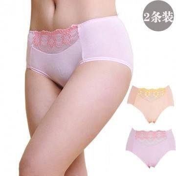 金丰田两条装 内裤女士时尚竹纤维内裤 性感蕾丝平角裤 2216